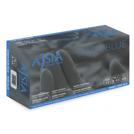 Rukavice Ajsia Dark Blue latex