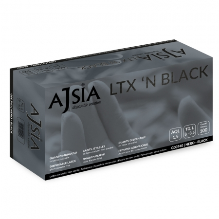 Rukavice Ajsia Ltx N Black latex